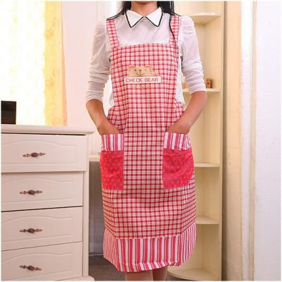 Modelli Per Grembiuli Da Cucina.Grembiule Da Cucina Grembiulino Per Lavori Di Casa Modello Plaid Per Le Donne