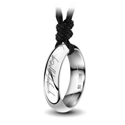 fri leverans kupongkoder köper nytt The Lord of the Rings ] Halsband för män, S925 Sterlingsilver ...