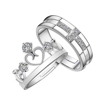 più economico 5cc71 d6070 Anelli di coppia, Argento-materiali, 1 x Anello degli uomini + 1 x Anello  delle donne, Stile in retrò corona