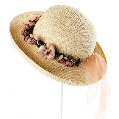 98fabdea1 Dámske Slamené klobúk / Slnečné klobúk [ Prírodné papyrus ] Široký přetékal  klobúk