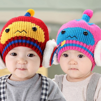 Baby Winter Warm Cap Knitting Hat 3-36 Months Robot Cat 100% Acrylic ... b1043e29d79d