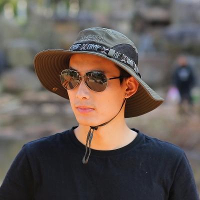 Men's Outdoor Climbing Cap Sunhat Bucket Hat Beach Cap - HahaCart.com